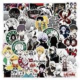 50Pcs Anime Tokyo Ghoul Horror Graffiti Stickers for Laptop Skateboard Moto Car Suitcase PVC Waterproof Decal Sticker Kids Toys