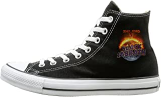 Men & Women Black Sabbath The End Tour 2016 Poster High Top Sneakers Canvas Shoes Design Sport Shoes Funny Black