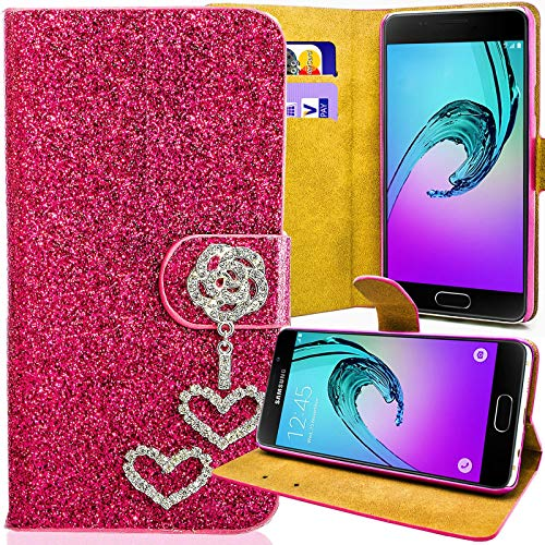 numerva Huawei Ascend G6 Strass Hülle, Schutzhülle [Glitzer Hülle, Bling Design Handyhülle] Cover PU Leder Tasche für Huawei Ascend G6 Handytasche [Pink]