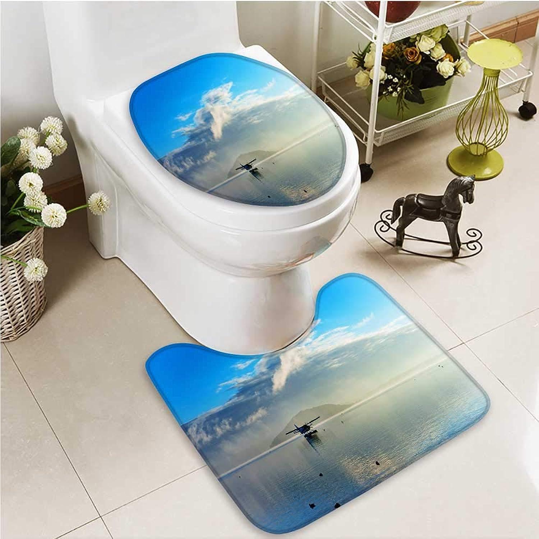 Printsonne Cushion Non-Slip Toilet Mat Seashore of Australia Soft Non-Slip Water
