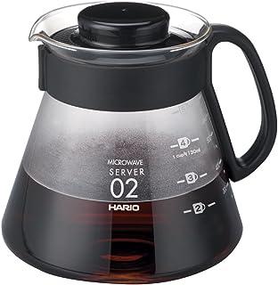HARIO CD-V60-02 CD Cafetière Range Server V60-02 Mikrovågsugn-600 ml, glas, 600 milliliter, svart