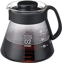 Hario V60Cafetera para estufa, Negro, 600 ml, 1