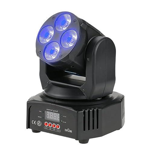 Lyre Led, Tomshine 60W 4 LED Éclairage à Disco, RGBW lumières de lavage d'effet, AC90-240V 16/18 canaux, Tête mobile/Vocale Commande/DMX512/ Master Slave, pour Club Bar KTV Disco Show