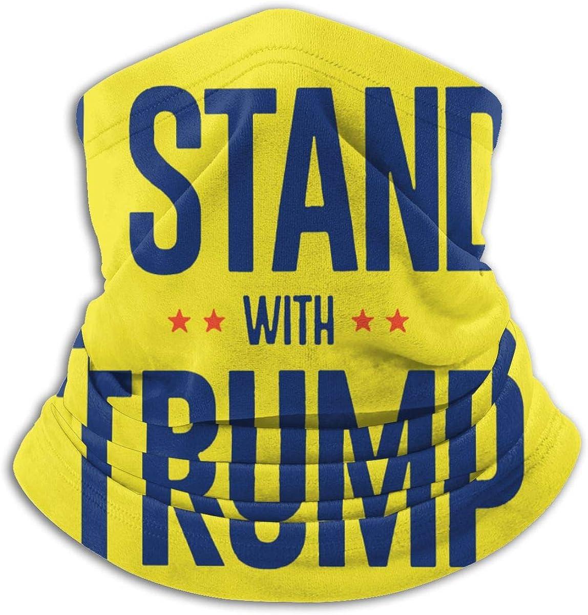 Donald Trump 2020 Support Black Multi-function Neck Warmer Gaiter Polyester Neck Warmer Windproof Winter Neck Gaiter Cold Weather Scarf For Men Women