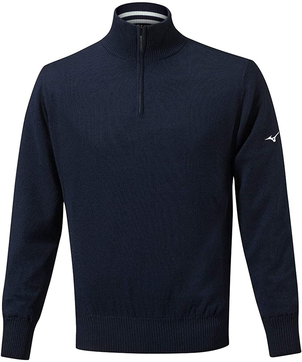 Mizuno Suéter de golf con logotipo ligero y forro a prueba de viento para hombre 2020