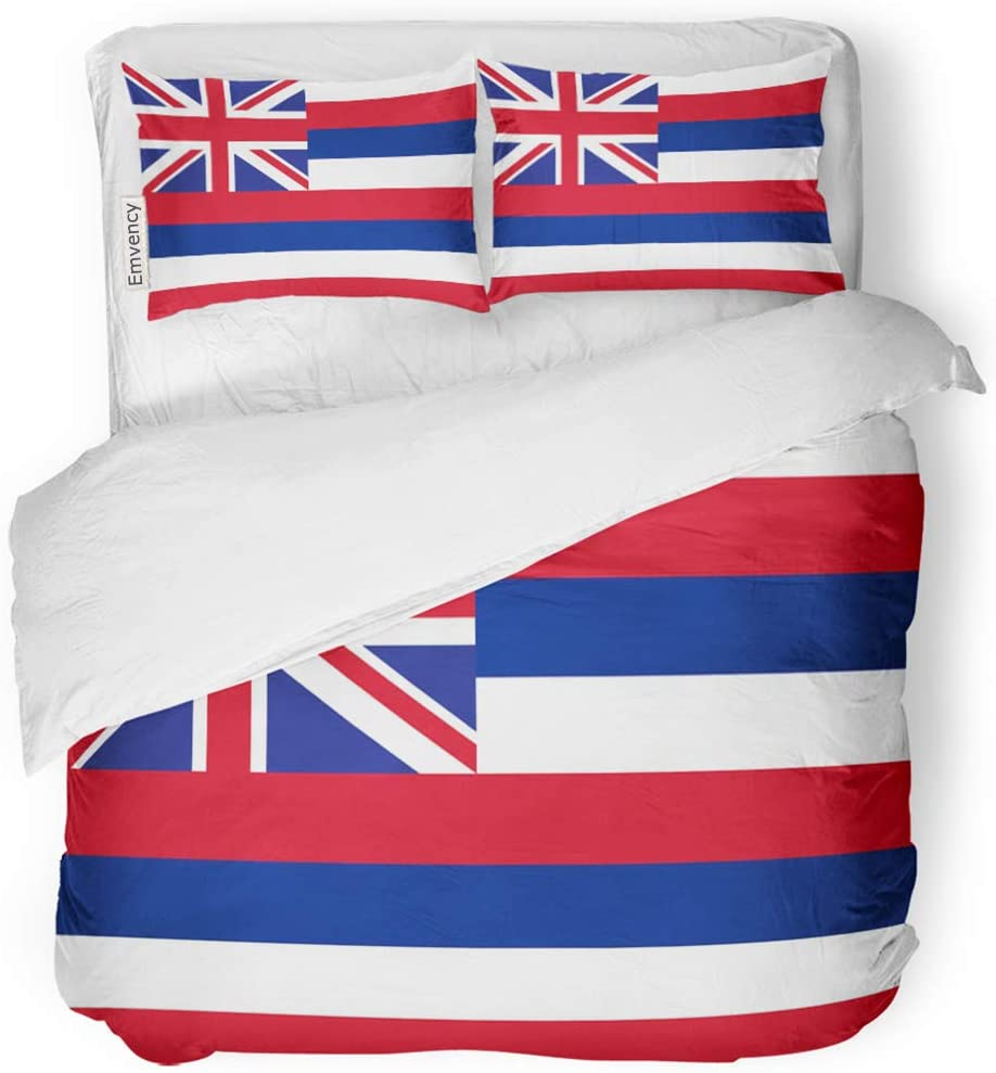 SanChic Duvet Max 72% OFF Over item handling Cover Set Red Decor State Abstract Hawaii Hawaiian
