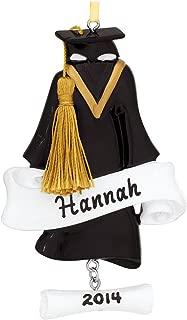 Polar X Grad Gown Graduation Girl Boy Personalized Christmas Tree Ornament