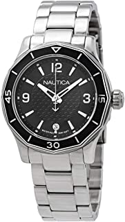 Nautica Womens Quartz Watch, Analog Display and Stainless Steel Strap NAD16531L