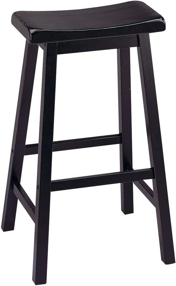 ACME Gaucho Bar Long Beach Mall Stool Set-2 - Seat Black Clearance SALE! Limited time! 0 Height 29