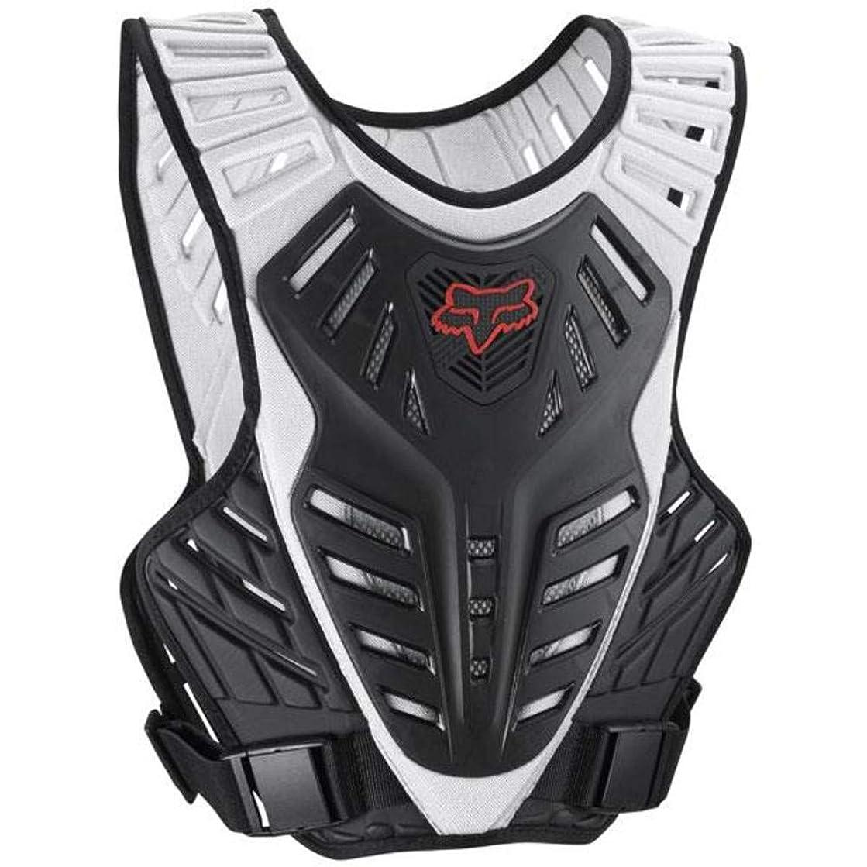 Fox Racing Titan Race Subframe Men's Roost Deflector Motocross Motorcycle Body Armor - Black/Silver/Small/Medium