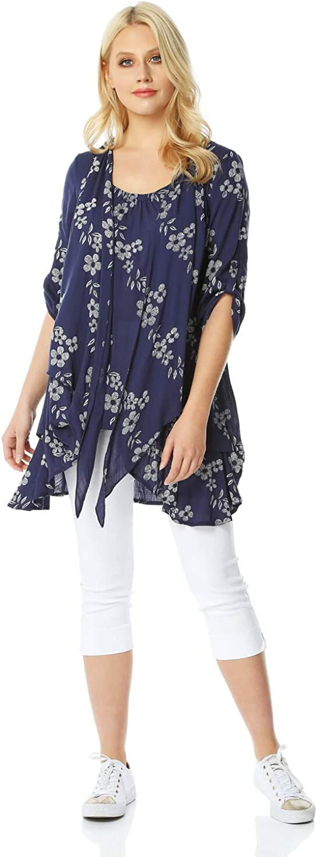 Roman Originals Import Women Floral Print Tunic Crinkle Max 47% OFF