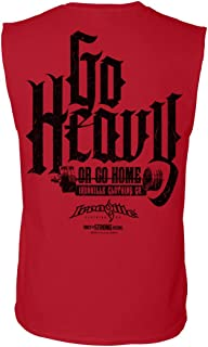 Ironville Go Heavy Or Go Home Sleeveless Powerlifting Shirt