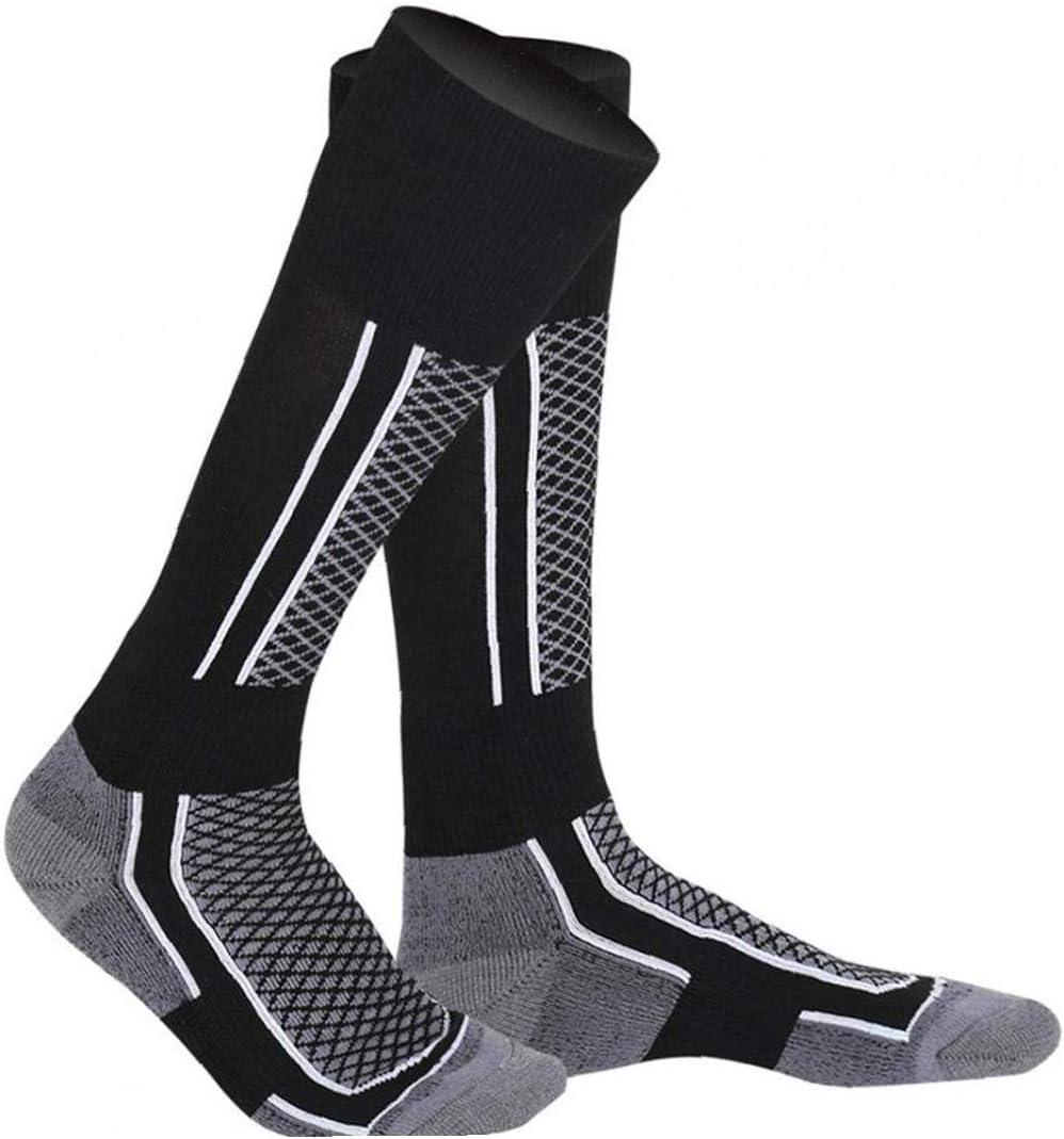 Ski Chaussettes Chaudes Chaussettes Sports Dhiver Ski R/échauffez Longues Chaussettes Pour Hommes En Plein Air Ski Course /À Pied Cyclisme Bleu