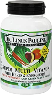 Irwin Naturals Dr. Linus Pauling, Super Multi Vitamin with Herbs & Energizers, 120 Caplets