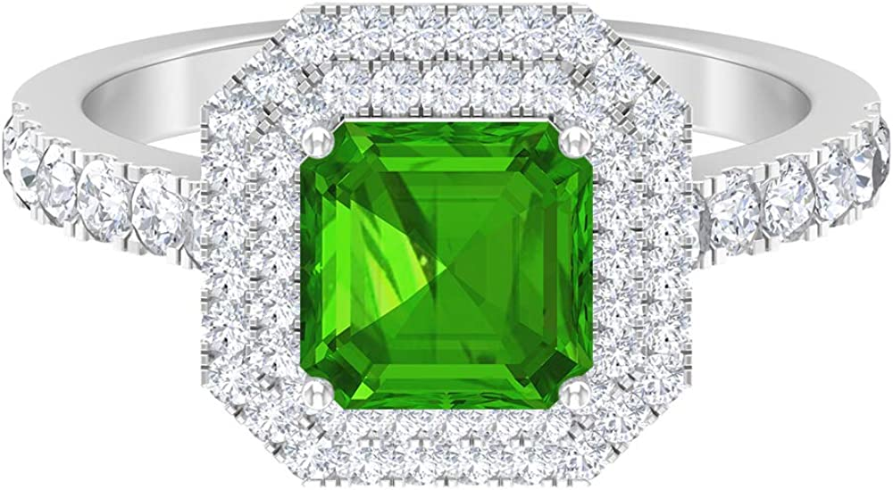 4.75 CT Statement Engagement Choice Ring Created Moi Max 57% OFF with Tsavorite and