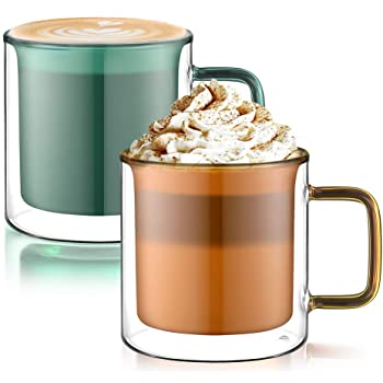 60ml Espresso Cup Heat Resistant Transparent Glass Coffee Mug Cup and Saucer Coffee Set Afternoon Tea Cup Mini Milk Latte Mug