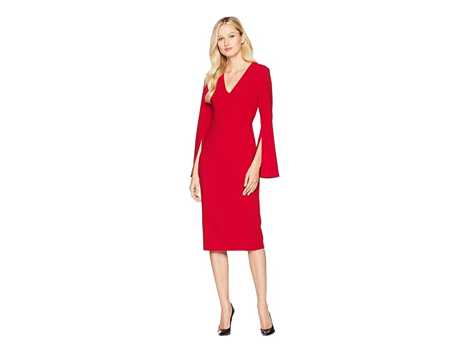 London Times Flared Long Sleeve with Princess Seams (Scarlet) Women