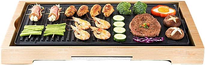 Grill • BBQ grill • 2000W • dubbele anti-aanbaklaag • vetschaal • warmteregelaar • 2-delig grilloppervlak met ribben en vl...