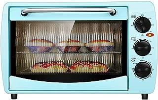 L.TSA Horno eléctrico Mini Kitchen 20L con Ajuste de Temperatura 0-230 ° C wnd 0-60min Temporización 1400W Horno pequeño automático multifunción de Tres Capas Azul