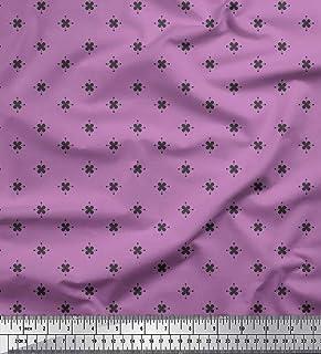 fa0be97826ba8 Soimoi Violet Mousseline de Viscose en Tissu Floral Artistique Shirting Tissu  Imprime par Metre 42 Pouce