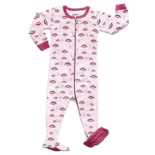 2a1e0ab4ac71 Toddler Footed Pajamas Girls  Amazon.com