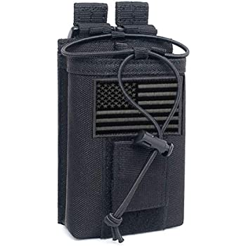 Molle Tactical Military Radio Walkie Talkie Nylon Phone Pouch Sport Cases Bag