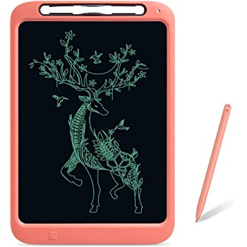 WINDEK LCD Writing Tablet 12 inch Electronic Kids Tablets Pads, Writing & Drawing Doodle Board, Portable Erasable Ewriter with Smart Stylus&Memo Board for Kids and Adults