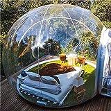 Oaimmk Tienda de Iglú de Burbujas Inflables Domo Transparente de 360° con Soplador de Aire Acampar al Aire Libre Exhibición de Productos Publicidad Evento Exposición,5M
