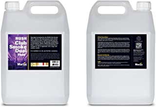 Martin RUSH Club Smoke Dual Fluid for Haze and Fog Effects Generators, 4 x 5L (case of 4)