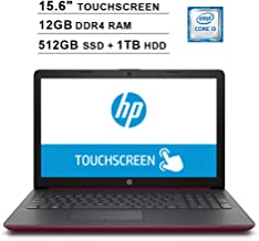 2019 HP Pavilion 15.6 Inch HD Touchscreen Laptop (8th Gen Intel Core i3-8130U up to 3.4GHz, 12GB DDR4 RAM, 512GB SSD (Boot) + 1TB HDD, Intel UHD Graphics 620, WiFi, Bluetooth, Windows 10, Burgundy)