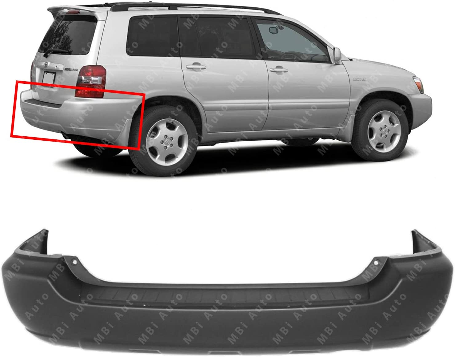 MBI OFFicial shop AUTO - Primered Rear Bumper Cover 2007 for New Orleans Mall 2004 2006 T 2005