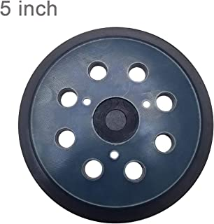 5 Inch Dia 8 Hole Sander Hook and Loop Pad Replaces BO5030/K BO5031K BO5041K - Replacement Sanding pad for Dewalt/Porter Cable - Cyan