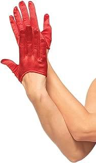 Women's Mini Cropped Satin Gloves