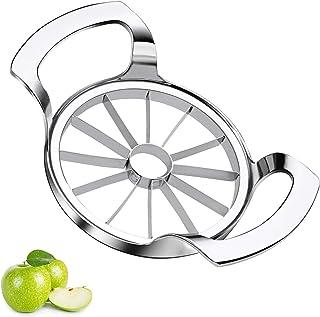 Coupe Pomme Acier Inoxydable Vide Pomme Coupe Poire Version améliorée Trancheuse Pomme En 12 Quartiers Fils Inox,Enleve Tr...