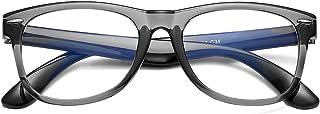 AZORB Kids Anti Blue Light Glasses Classic TPEE Rubber Eyeglasses for Girls Boys Age 3-12 Anti Eyestrain(Transparent Gray)