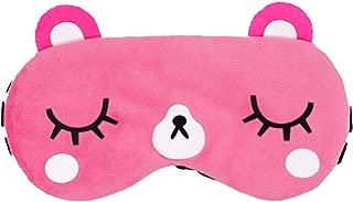 kimkoo Sleep mask &Super Soft Silk Eye Mask for Sleeping,Blindfold for Women and Kids (Pink)