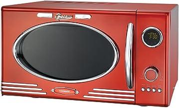 MELISSA 16330088 Horno Microondas 25 litros - 900W - 1000W con 12 programas, Rojo Metalizado (16330088)