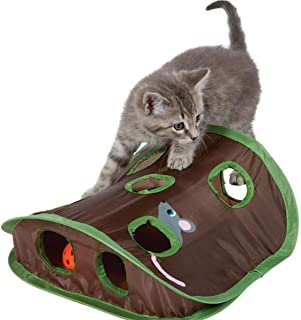 Educational Foldable Toys Mouse Hole Cats Catch Funny Ball Bells Pet Supplies