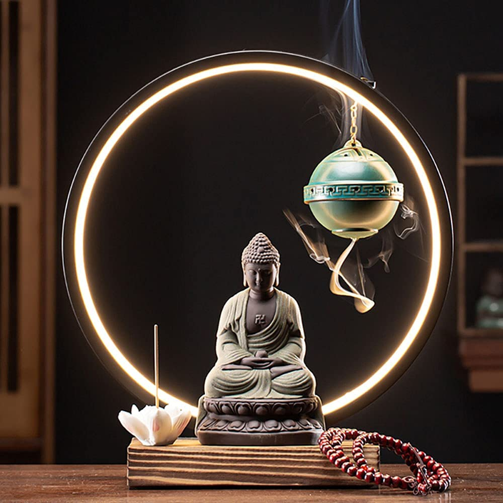 XXBJFMY Insense Smoke Waterfall with LED Incense Seattle Mall 1 Lotus Ultra-Cheap Deals and Bur
