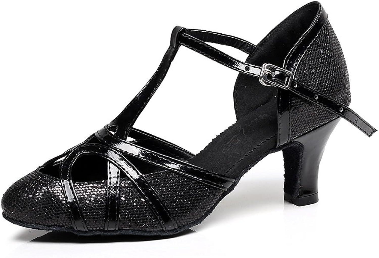 CDSO Women's Silver Glitter Modern Dance shoes Ballroom Party Dance shoes 2.16 inch Heel