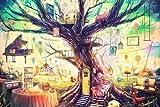 Koala Superstore Rompecabezas de Madera 500pcs Cartoon Tree House para niños Adultos