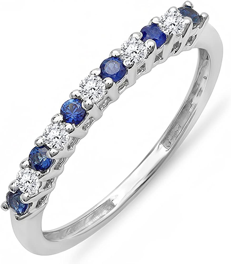 Dazzlingrock Collection Free shipping on posting reviews latest 14K Gold Round Blue White Cut Diamond