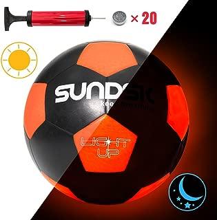 Sundsk Light Up LED Soccer Ball Glow in the Dark Soccer...
