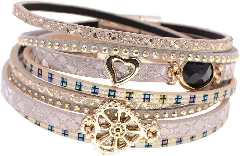 Kansas City Mall Leather Bracelets Glass Bracelet Sale Special Price Wrap For Wome