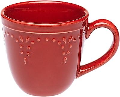 Signature Now & Then Set of Six 10-Ounce Mug, Poppy