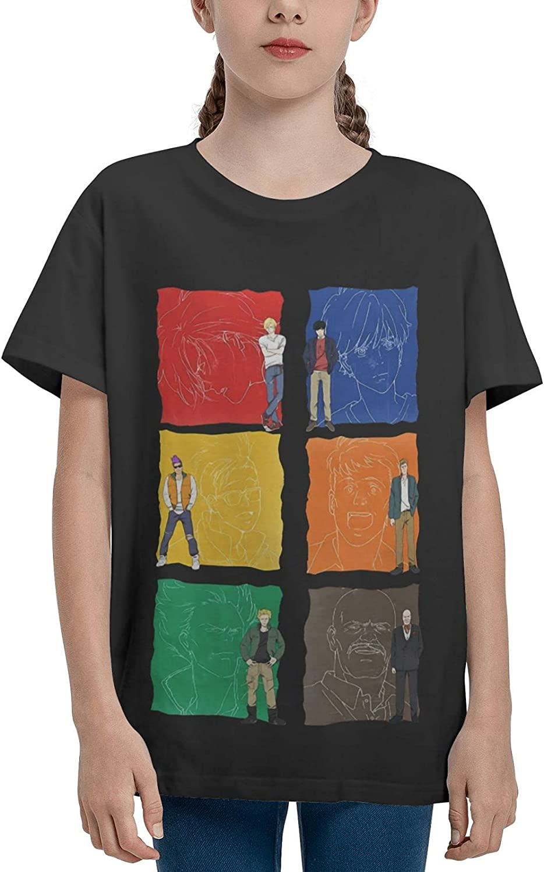 JarBruan Unisex Kid Manga Design Tee for Big Boy Girls Anime Cotton T-Shirts Child Cartoon Casual Clothing School
