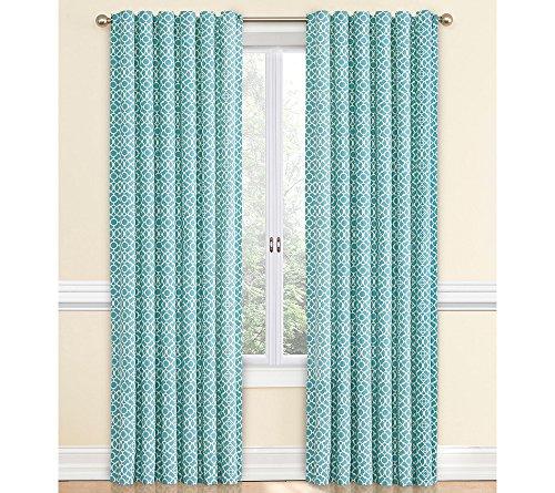 Waverly Lovely Lattice Window Curtain Aqua 50x84