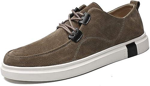 XHD-chaussures , Chaussures de Ville à Lacets pour Homme - Vert - Kaki, 39 EU