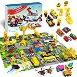 MOVINPE Cars Advent Calendar for Kids Boys 2021 Christmas, 24 Pull Back Vehicles Playsets with Crane Helicopter Tractor Construction Truck Toys Countdown Days to Christmas for Son Grandson Girls