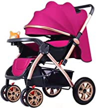 ZL Ultralight Portable Baby Cart Can Sit Can Lay Damping Four Rounds Strollers Shock Absorption Baby Carriage Fold Two Way Baby Strollers,H